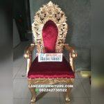 Kursi sofa pelaminan pengantin jati ukiran model terbaru