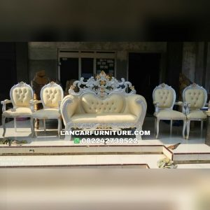 Kursi sofa pelaminan jati ukiran model terbaru