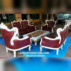 Kursi sofa tamu kayu jati